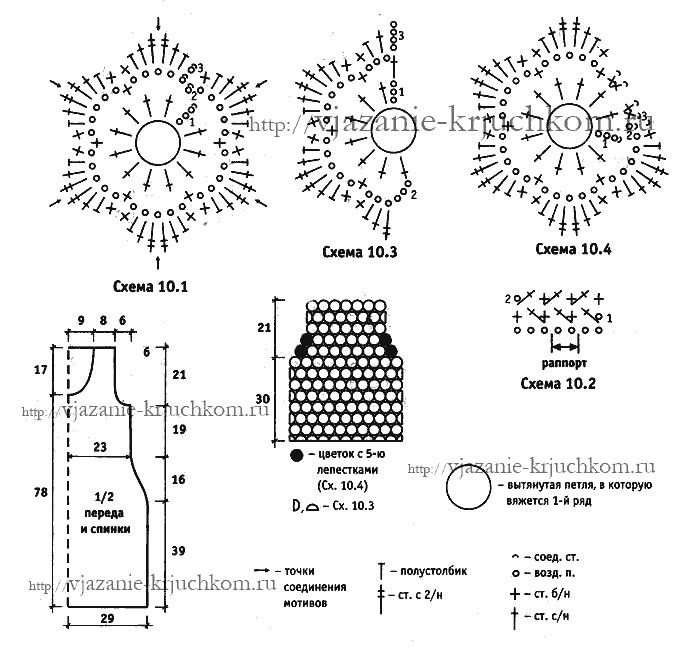 Схемы вязания крючком летнего