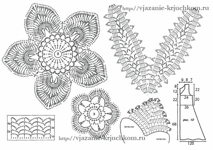 Схемы вязания крючком женского