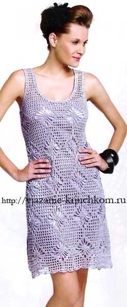 Вязаное платье с узором паучки