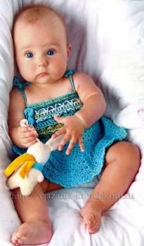 Вязание для детей крючком платья